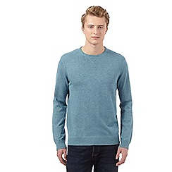 St George by Duffer - Turquoise logo crew neck jumper