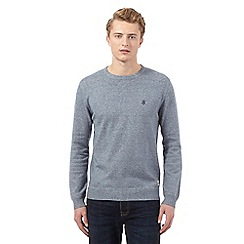 St George by Duffer - Dark blue logo crew neck jumper