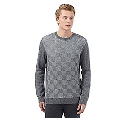 Red Herring - Grey checked crew neck jumper