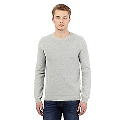 Red Herring - Grey ribbed crew neck jumper