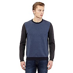 Red Herring - Dark blue colour block jumper