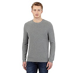 Red Herring - Grey textured crew neck jumper