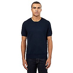 Red Herring - Navy textured crew neck t-shirt