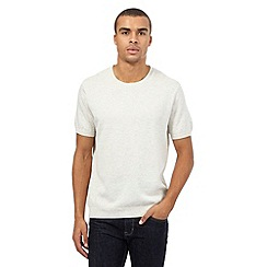 Red Herring - Off white textured crew neck t-shirt