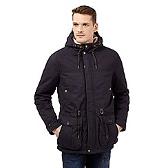 Red Herring - Navy fleece lined hood parka coat