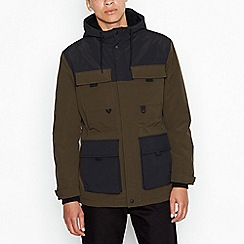 Red Herring - Khaki sherpa parka jacket