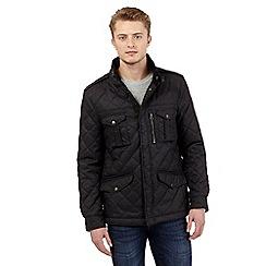 Red Herring - Dark grey quilted jacket