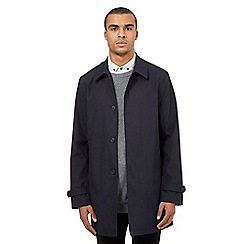 Red Herring - Navy checked print mac coat