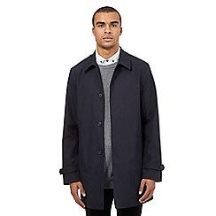 Red Herring - Navy checked print mac coat