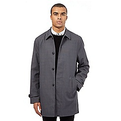 Red Herring - Grey checked print mac coat