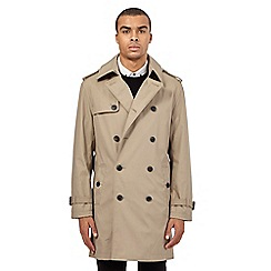 Red Herring - Beige double breasted mac coat