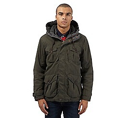 St George by Duffer - Khaki hooded jacket