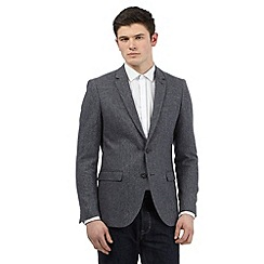 Red Herring - Grey wool blend herringbone blazer