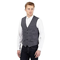 Red Herring - Grey wool blend herringbone waistcoat