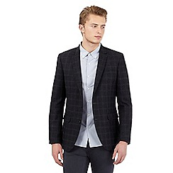 Red Herring - Grey wool blend checked blazer