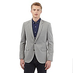 Red Herring - Big and tall grey pique blazer
