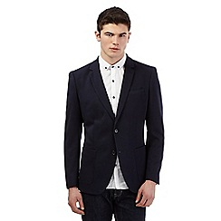 Red Herring - Big and tall navy textured blazer