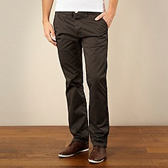 Red Herring - Dark grey slim fit chinos