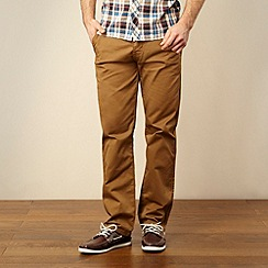 Red Herring - Tan straight leg chinos