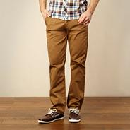Tan straight leg chinos