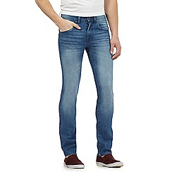 Red Herring - Big and tall blue mid wash skinny jeans