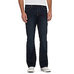 Red Herring - Big and tall dark blue bootcut jeans