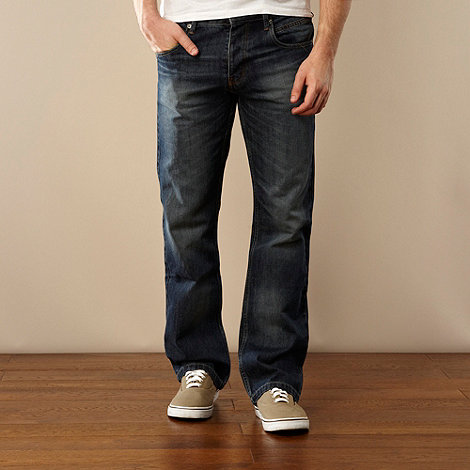 Red Herring - Big and tall blue bootcut jeans