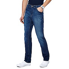 Red Herring - Big and tall mid blue straight leg jeans