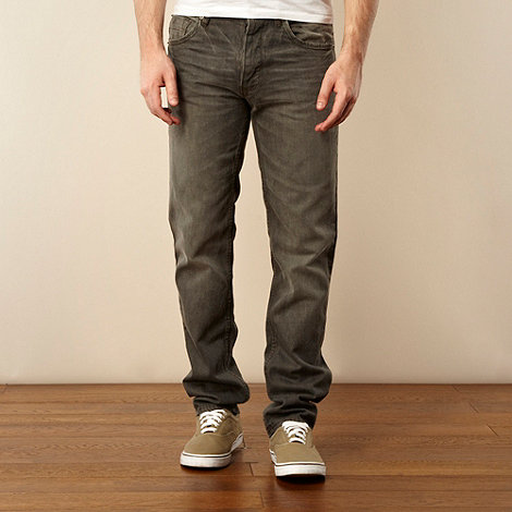 Red Herring - Big and tall grey straight leg jeans
