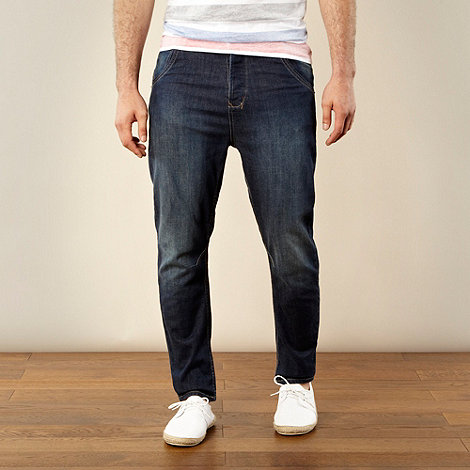 Red Herring - Dark blue carrot fit jeans