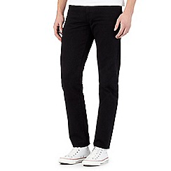 Red Herring - Big and tall black straight fit jeans