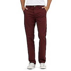 Red Herring - Dark red straight chinos