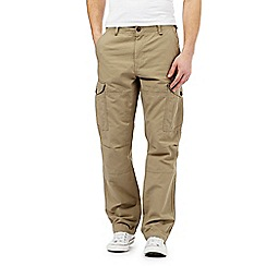Red Herring - Big and tall beige cargo trousers