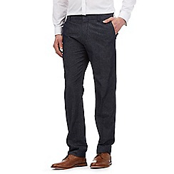 Red Herring - Navy smart denim linen trousers