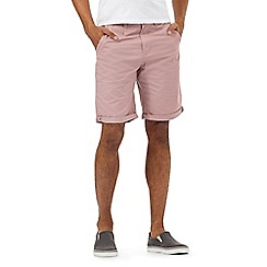 Red Herring - Big and tall pink chino shorts