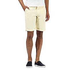 Red Herring - Big and tall yellow chino shorts