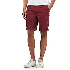 Red Herring - Dark red chino shorts