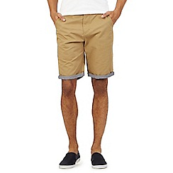 Red Herring - Tan chino shorts