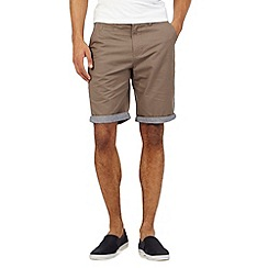 Red Herring - Big and tall brown chino shorts