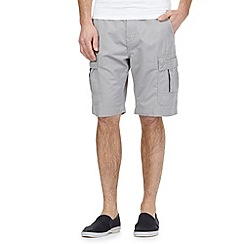 Red Herring - Big and tall light grey cargo shorts