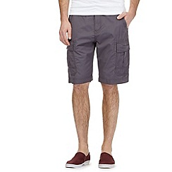 Red Herring - Big and tall dark grey cargo shorts