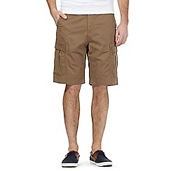 Red Herring - Big and tall brown cargo shorts
