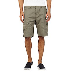 Red Herring - Big and tall khaki cargo shorts