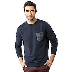 Red Herring - Navy chambray pocket sweatshirt
