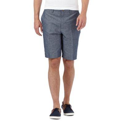 Red Herring Blue linen blend shorts