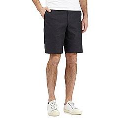 Red Herring - Black textured pin dot shorts