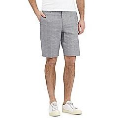 Red Herring - Grey textured checked shorts