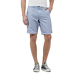 Red Herring - Light blue striped chino shorts