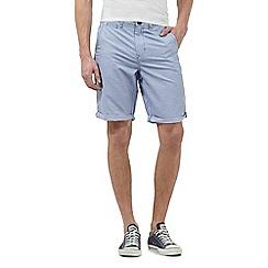 Red Herring - Light blue striped chino shorts