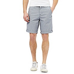 Red Herring - Grey square checked chino shorts